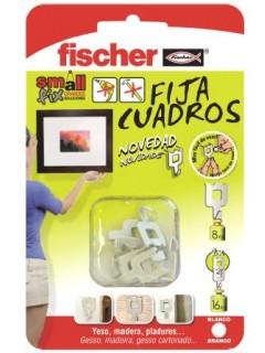 Colgador Cuadros Negro Fischer 8 Pz