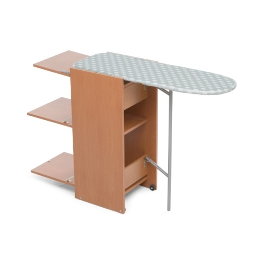 Mueble Planchar Con Tabla Madera/Metal Nogal