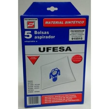 Bolsa Aspirador Sintetico Ufesa Thogar 5 Pz 915510
