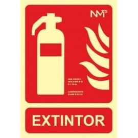 Cartel Señal 210X300Mm Luminiscente Pvc Extintor Normaluz