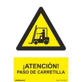 Cartel Señalizacion 210X300Mm Pvc Paso Carretilla Normaluz
