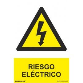 Cartel Señalizacion 210X300Mm Pvc Riesgo Electrico Normaluz