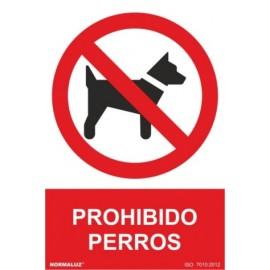 Cartel Señal 210X300Mm Pvc Prohibido Perros Normaluz
