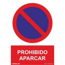 Cartel Señal 210X300Mm Pvc Prohibido Aparcar Normaluz