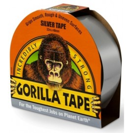 Cinta Adhesiva 48Mmx 11Mt Americana Tric Doble/Grosor Plata Silver Gorilla