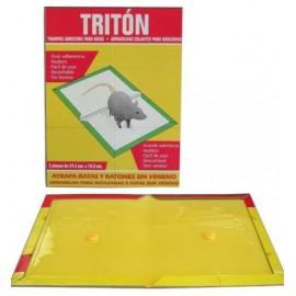 Cebo Ratas 24,5X18,5Cm Cola Triton Carton
