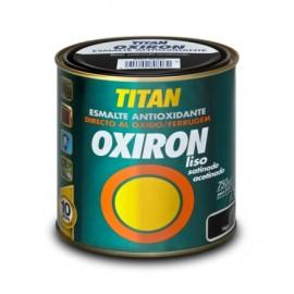 Esmalte Antioxidante Satinado  750 Ml Gris Acero  Exterior Oxiron Ef Forja Tita