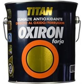 Esmalte Antioxidante Forja 4 Lt Gris Acero  Exterior Oxiron Titan