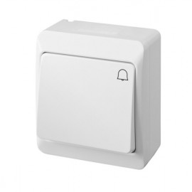 Pulsador Timbre Superficie 10A-250V Abs Pool 54 Famat