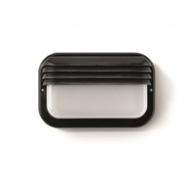 Aplique Iluminacion Horizontal Exterior E27 18W Ip44 Pvc Negro Famat
