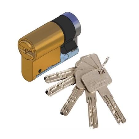 Cilindro Seguridad  30X10Mm C6 Laton Leva Larga Lince