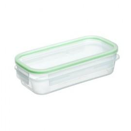 Hermetico Alimentos Rectangular 0,75Lt Junta Verde Click Clack Plastico Tat