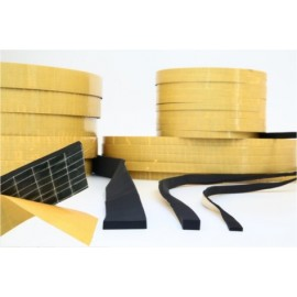Perfil Adhesivo 40X5Mm Esponja/Neopreno Negro 100 Mt