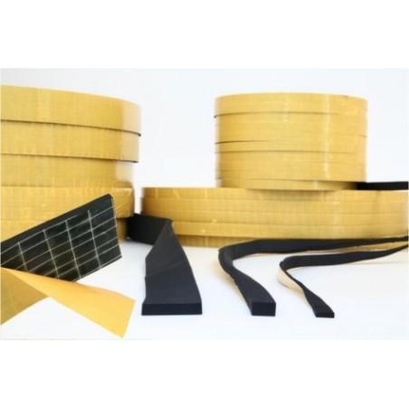 Perfil Adhesivo 50X10Mm Esponja/Neopreno Negro 100 Mt