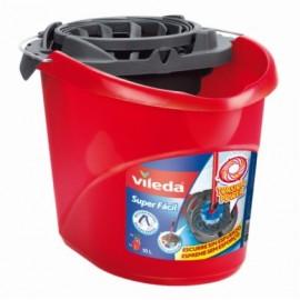 Cubo Agua 10L. Escurridor Automatico Vileda Rojo Superfácil