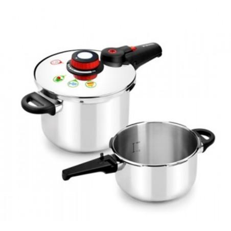 Olla Cocina Presion 4+6L Super Rapida Duo Inox Selecta Monix