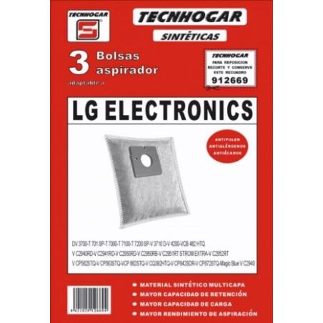 Bolsa Aspirador Sintetico Lg-7000 Thogar 3 Pz