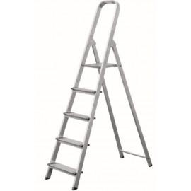 Escalera Domestica Tijera 0,87Mt 4 Peldaños Ancho  Aluminio  Vivahogar