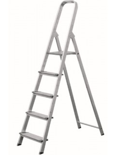 Escalera Domestica Tijera 1,11Mt 5 Peldaños Ancho  Aluminio  Vivahogar