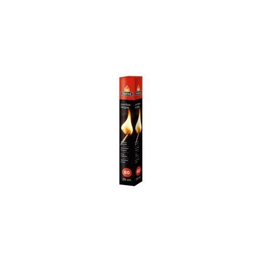 Cerilla Encendido Barbacoa 20Cm/60Ud Larga Ok Fuego