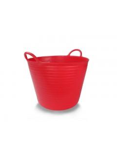 Capazo Agricola 42Lt Polietileno Rojo Plasvidavi