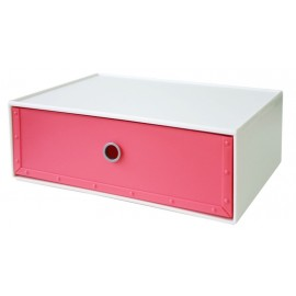 Cajonera Ordenacion Multiusos 344X266X126Mm Apilable Plastico Rosa Way-Be