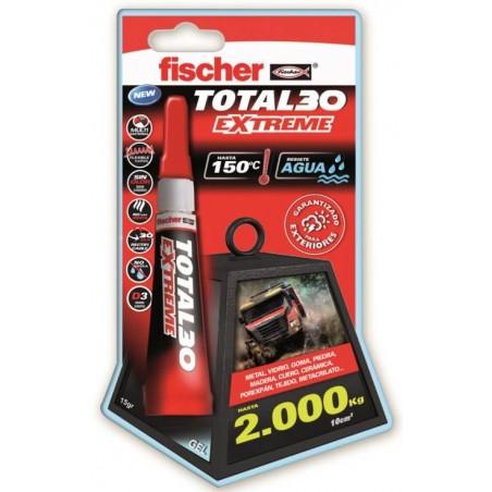 Adhesivo Instantaneo Flexible 15 Gr Gel Universal Total 30 Fischer