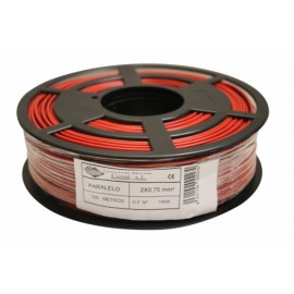 Cable Multimedia 2X0,75Mm Paralelo Nivel Pvc Rojo/Negro Bicolor N