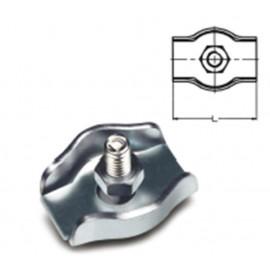 Sujetacable Plano Simple M04 Acero Cincado Sps204 Damesa 100 Pz