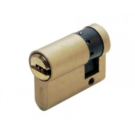 Cilindro Seguridad 30X10Mm R6 Laton Leva Larga Iseo