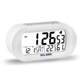 Reloj Despertador Termometro Y Luz Elbe Blanco