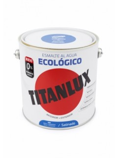 Esmalte Satinado. 2,5 Lt Az/Lum Al Agua Ecologico Titanlux