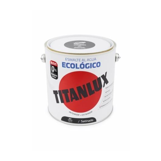 Esmalte Satinado 2,5 Lt Ne Al Agua Ecologico Titanlux