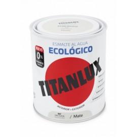 Esmalte Mate 750 Ml Gr/Sua Al Agua Ecologico Titanlux
