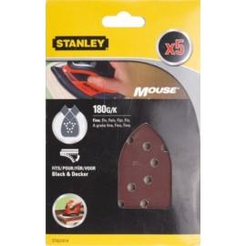 Hoja Lija Mouse Perforada Gr180 Stanley 5 Pz