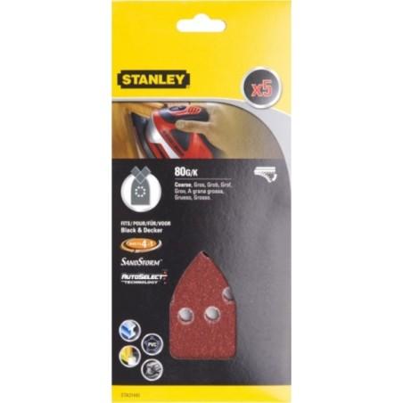 Hoja Lija Multilijadora Perforada Gr80 Stanley 5 Pz