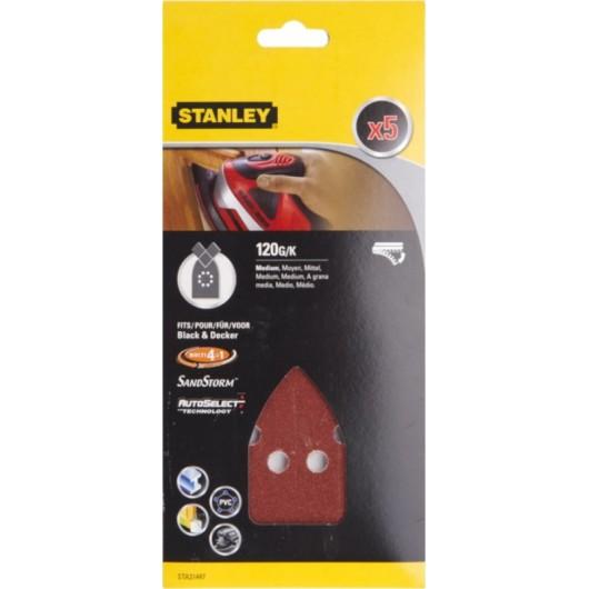 Hoja Lija Multilijadora Perforada Gr120 Stanley 5 Pz