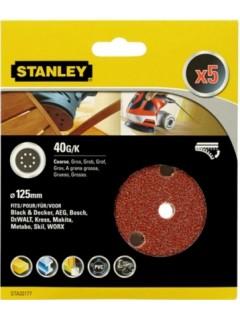 Disco Lija Roto Orbital Perforada 125Mm Gr40 Stanley 5 Pz
