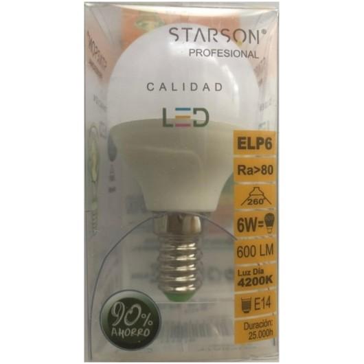 Lampara Iluminacion Led Seg E14 6W 600Lm  4200K Starson