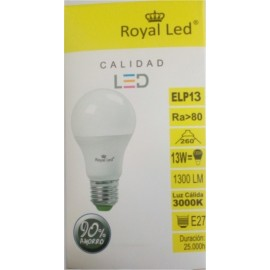 Lampara Iluminacion Led Estandar E27 13W 1300Lm 3000K Royal Led