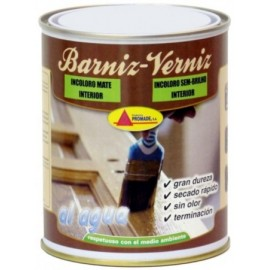 Barniz Madera Mate 750 Ml Inc. Int. Agua Promade