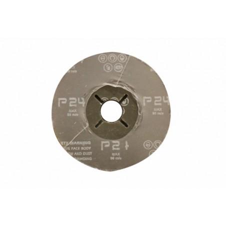 Disco Lija Nivel Fibra Corindon 115X22 Mm Amoladora Gr 24 Ma