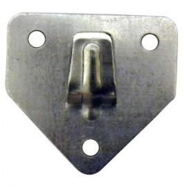 Placa Extintor 70X60Mm Acero Cinc Colgador Micel