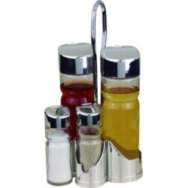 Vinagrera Cocina Aceitera 2X175Ml Cristal/Inox Vivahogar 2 Pz