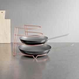 Organizador Cocina Sartenes 23X27X23Cm In. Canyon Copper Metalt