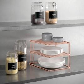 Estante Cocina Rinconera 25X25X19Cm In. Palio Copper Metaltex