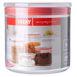 Bote Cocina 1000Ml Poliestireno Verde/Transparente Hermetico Tatay