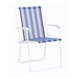 Sillon Playa Alto Alco Acero/Fibreline Rayas 617B-0056