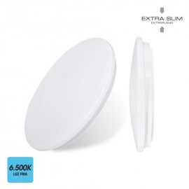 Plafon Circular 24W 1680Lm 6500K 38X6,6Cm Pl Bl Sup. Led Extrapl