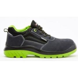 Zapato Seguridad T43 S1P Bellota Serraje Negra/Verde Comp+ Pu/Pl N